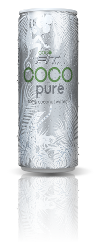100% pure coconut water in can
