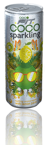 sparkling coconut water with lemon juice