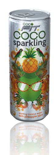 sparkling coconut water with pineapple juice